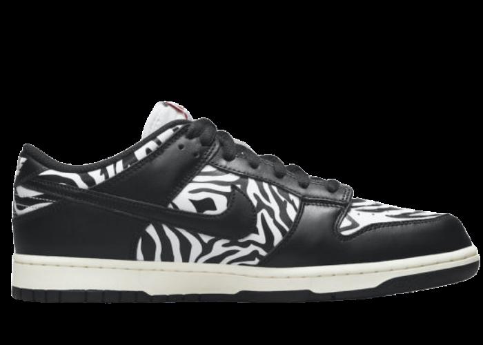 Nike SB Dunk Low Quartersnacks Zebra