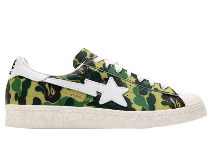 adidas Superstar 80 Bape Green Camo