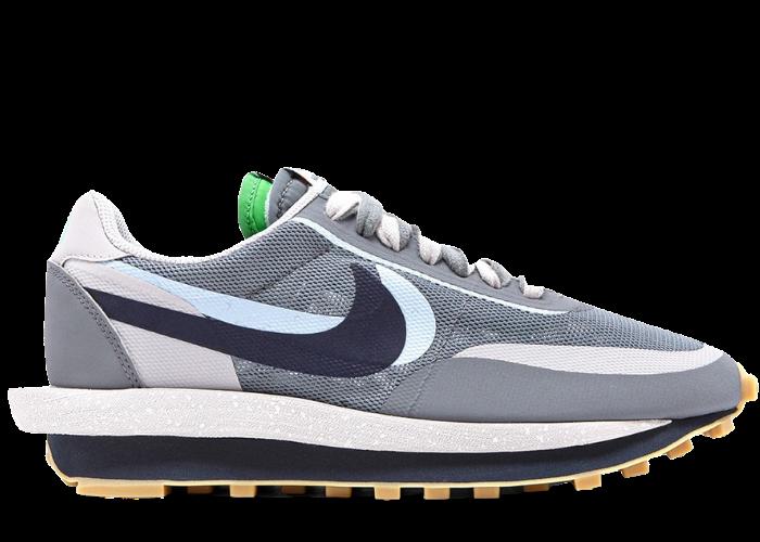 Nike LD Waffle sacai CLOT Cool Grey