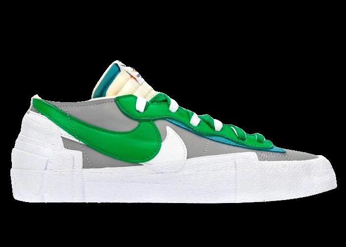 Nike Blazer Low sacai Medium Gray Classic Green