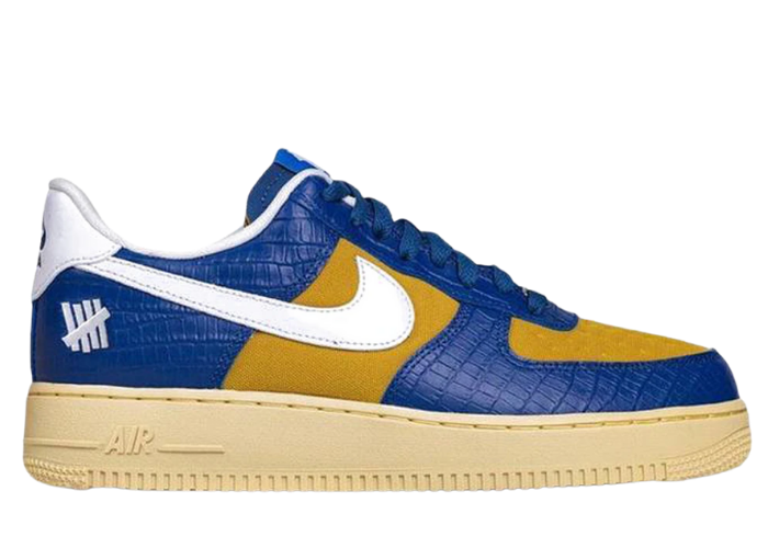 Nike Air Force 1 Undefeated 5 On It Croc Blue & Yellow